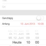 Auswahlrad, Datum